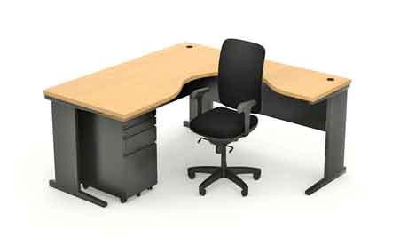 Customized Table on Metal I-legs